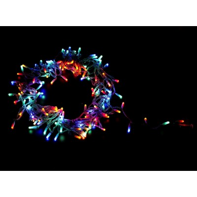 GUIRNALDA 140 LEDS PARA INTERIOR CON CABLE VERDE (MULTICOLOR)