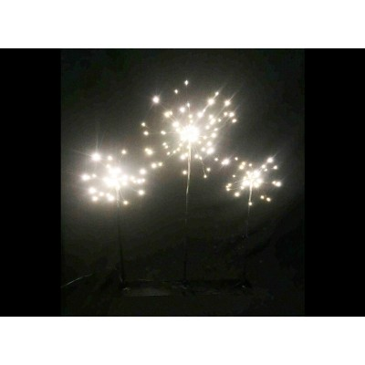 SET DE 3 ESTRELLAS 170 LEDS BASE NEGRA