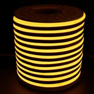 Tiras Neón flex silicona 12*6mm Amarillo