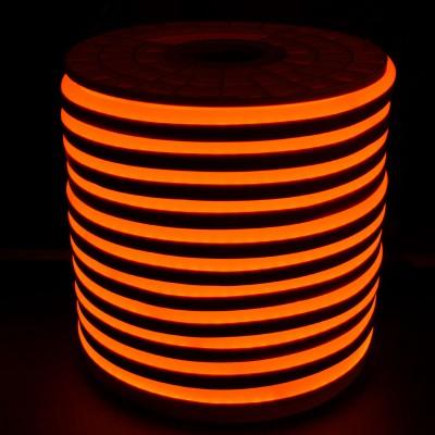 Tiras Neón flex silicona 12*6mm Naranja