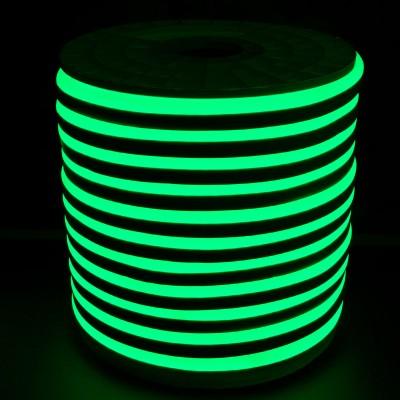 Tiras Neón flex silicona 12*6mm Verde (por metro)