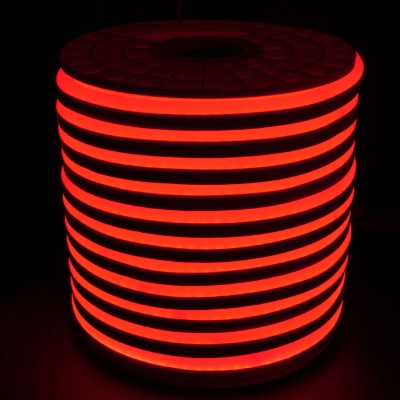 Tiras Neón flex silicona 12*6mm Rojo (por metro)