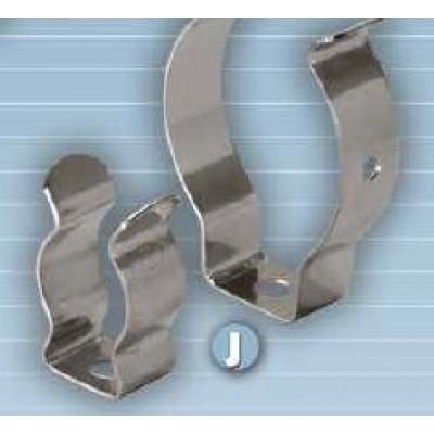 Soporte metálico, clip tubo T-5