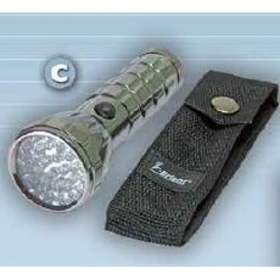 Linterna aluminio, 29 Leds con funda