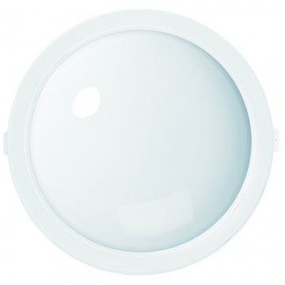 Aplique LED de pared redondo de policarbonato, 10W, IP44