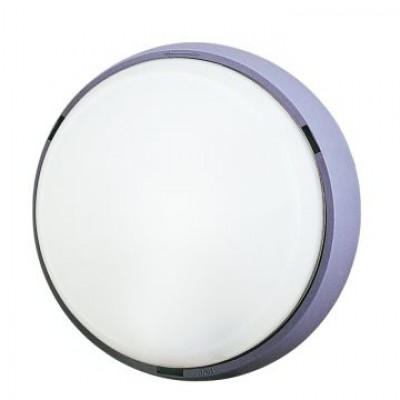 Aplique decorativo de exterior, GRIS LED INCLUIDO 18W