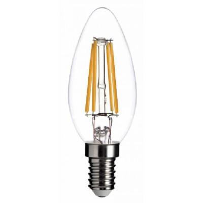 Bombilla vela LED filamento alta calidad de cristal 4W