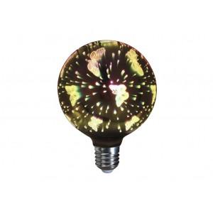 LAMPARA DECORATIVA 3D FILAMENTO LED GLOBO EFECTO MARIPOSA E27 4W 320º 230V