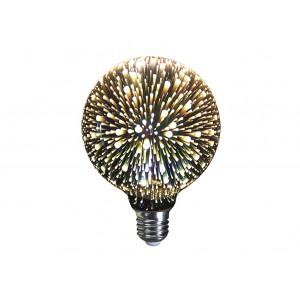 LAMPARA DECORATIVA 3D FILAMENTO LED GLOBO EFECTO FUEGOS ARTIFICIALES E27 4W 320º 230V