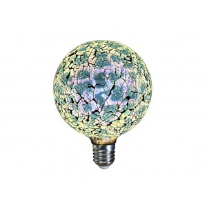LAMPARA DECORATIVA FILAMENTO LED GLOBO TIFFANY E27 4W 360º 230V AZUL