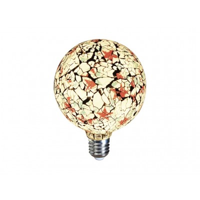 LAMPARA DECORATIVA FILAMENTO LED GLOBO TIFFANY E27 4W 360º 230V BLANCA
