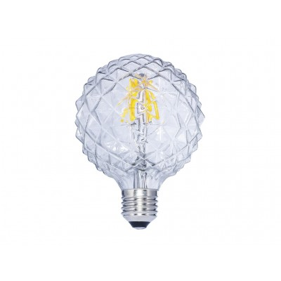 LAMPARA DECORATIVA FILAMENTO LED GLOBO CLARA E27 6W 2700K 360º 230V