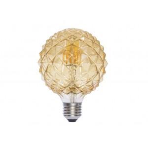 LAMPARA DECORATIVA FILAMENTO LED GLOBO AMBAR E27 6W 2700K 360º 230V