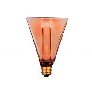 LAMPARA LED DECO DIAMANTE E27 4W AMBAR 1800K