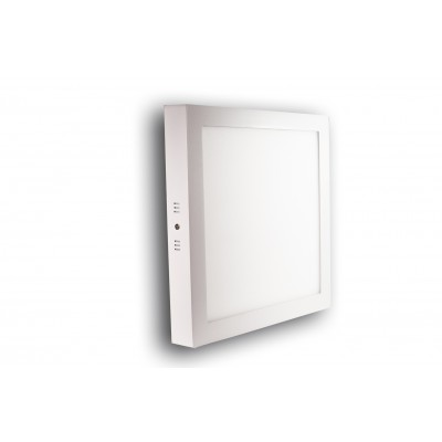 Downlight superficie cuadrado 18 W blanco cálido