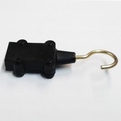 Conector manguera guirnalda final, con gancho para manguera 12x5mm