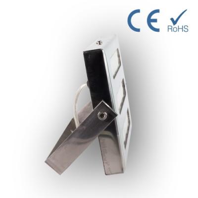 Foco barrido pared acero inox. pulido 195x116x75mm(12W) 15º 6000ºK