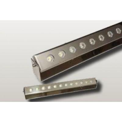 Foco barrido pared acero inox. pulido 480x48x50mm(12W) 15º 6000ºK