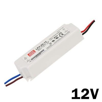 Fuente de Alimentacion estanca  MEAN WELL IP-67 20w 12v