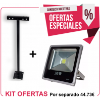 Kit Foco Exterior 30W + Soporte 750 mm