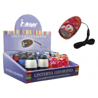 Expositor 12 linternas 6 Leds 6 colores