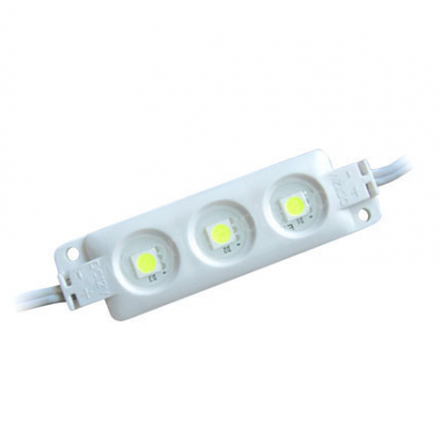 Modulo 3 LEDs SMD5050 IP-65 Blanco Medidas: 20x68x7mm