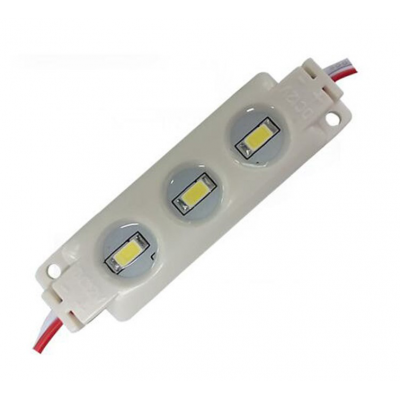 Modulo 3 LEDs SMD5630 IP-65 Blanco Medidas: 20x68x7mm
