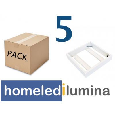 PACK 5 Soportes panel LED 600x600mm superficie ENVIO GRATIS
