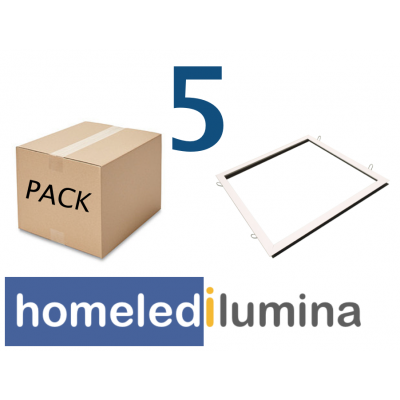 PACK 5 soportes panel LED 600x600mm empotrar ENVIO GRATIS